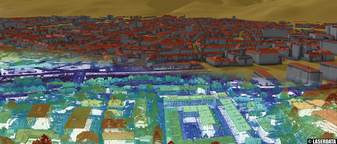 Automatically derived building models from ALS point cloud
