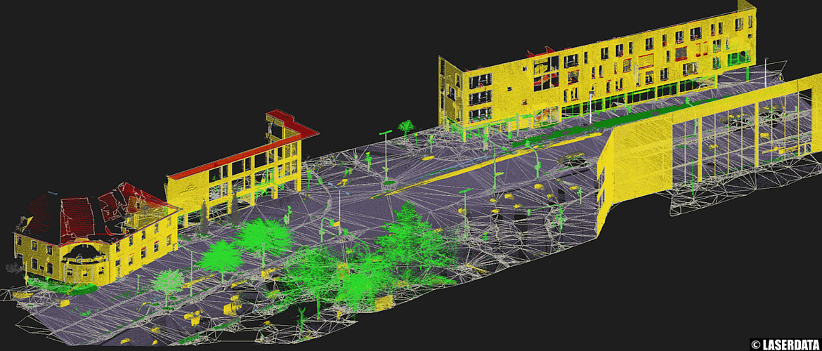 Automatically derived vector models from MLS point cloud data