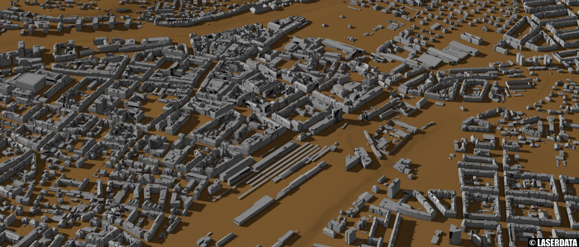 Automatically derived city models from ALS point cloud data