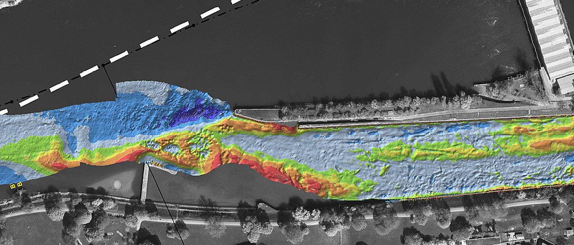 Ground extraction from bathymetric point cloud data (multibeam echosounder)