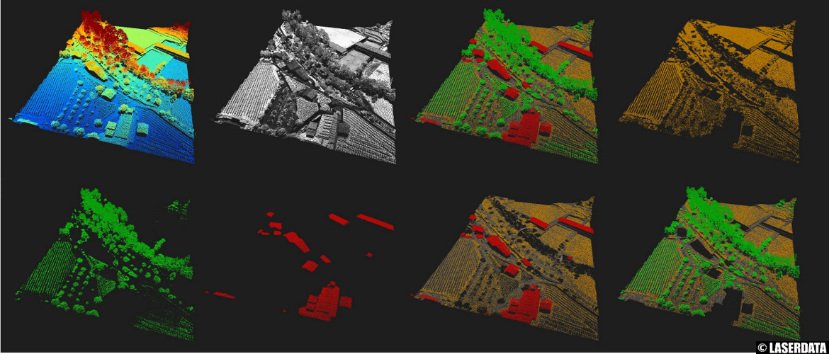 Shortcut visualization options in the 3D point cloud viewer