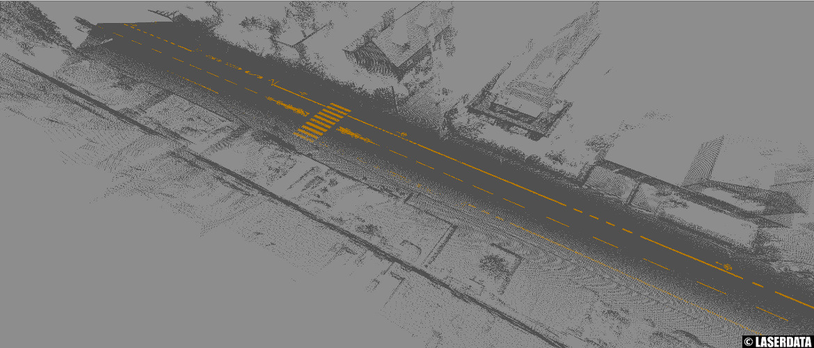Extraction of road markings from MLS point cloud data