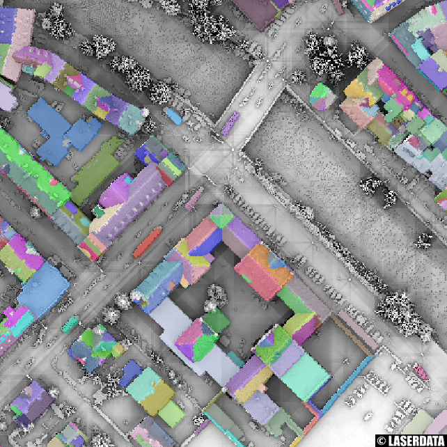 Segmentation of building roofs